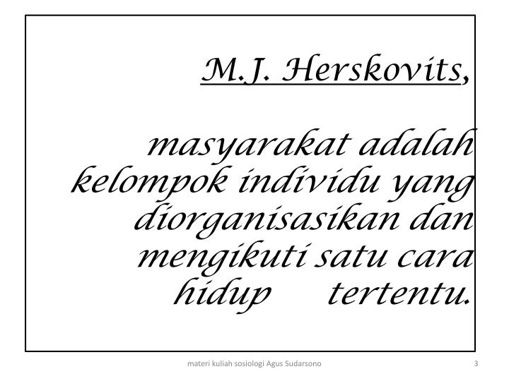 M.J. Herskovits