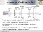 importance of collimation for