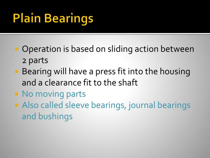 Plain Bearings