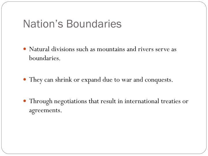 Nation's Boundaries