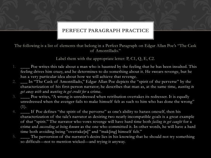 Perfect Paragraph Practice