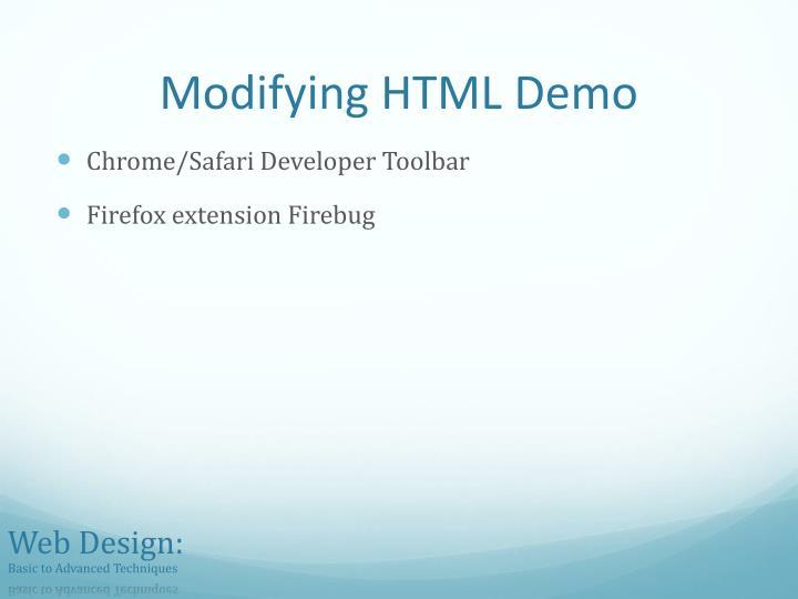 Modifying HTML Demo