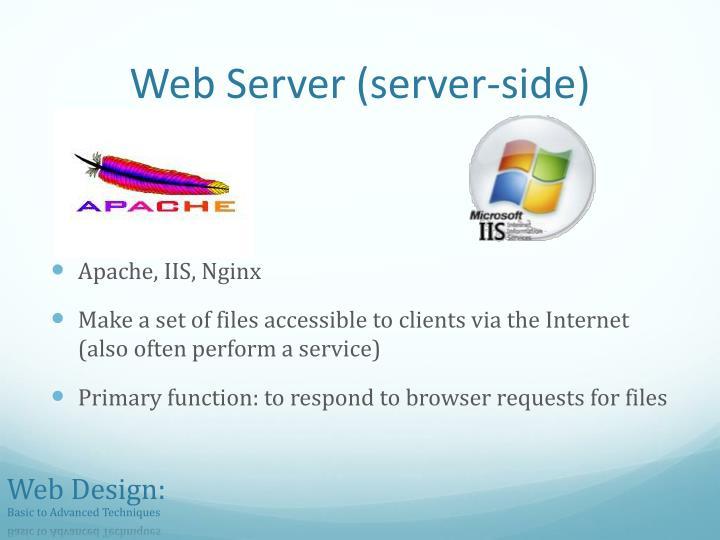 Web Server (server-side)