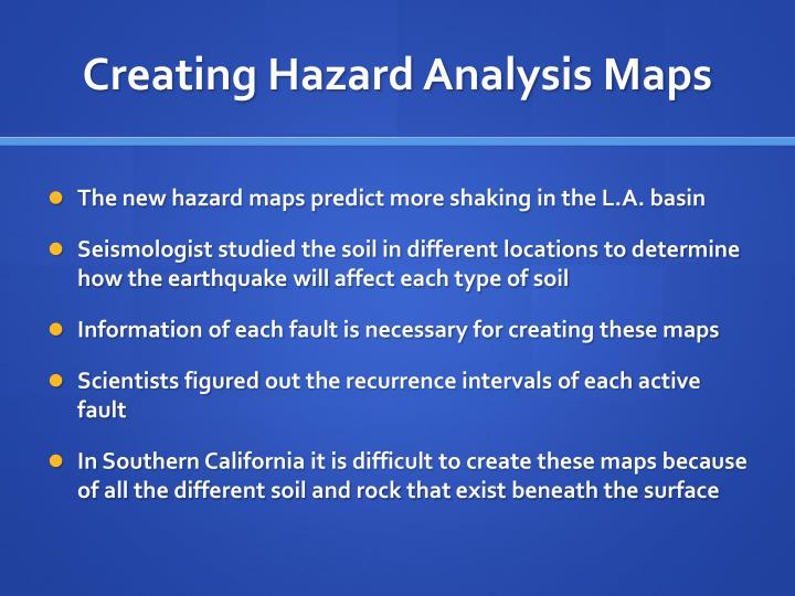 Creating Hazard Analysis Maps