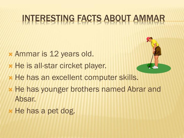 Interesting facts about ammar