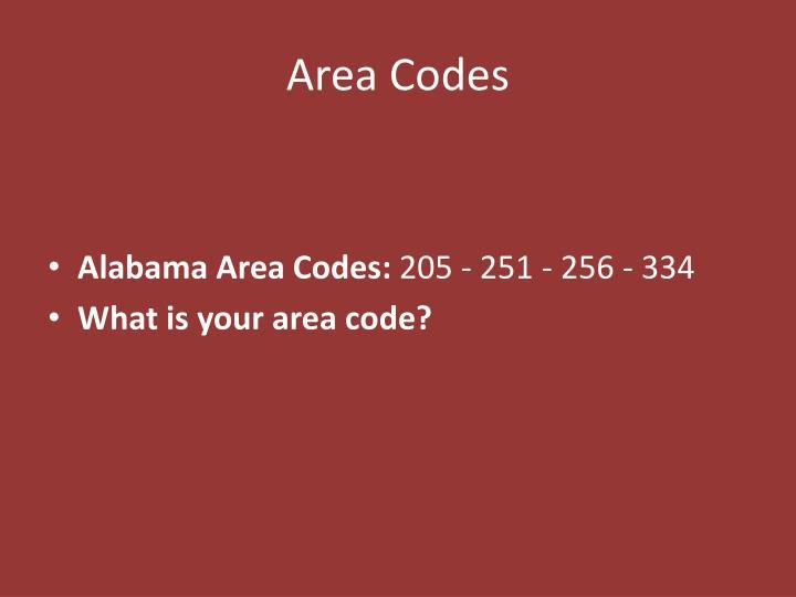 Area Codes