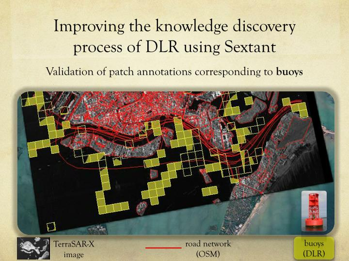 Improving the knowledge discovery process of DLR using Sextant