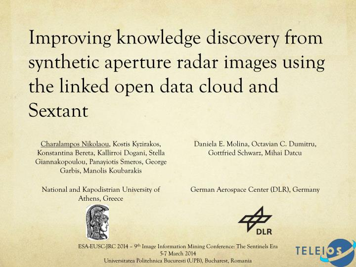 Improving knowledge discovery from synthetic aperture radar images using the linked open data cloud ...