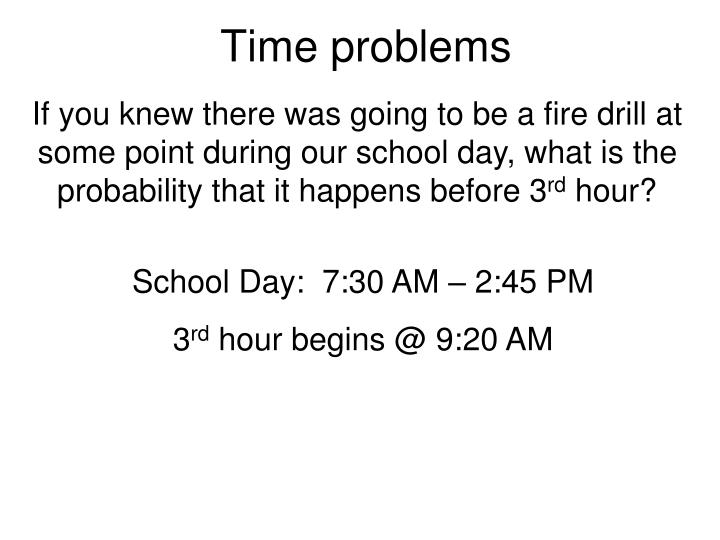 Time problems