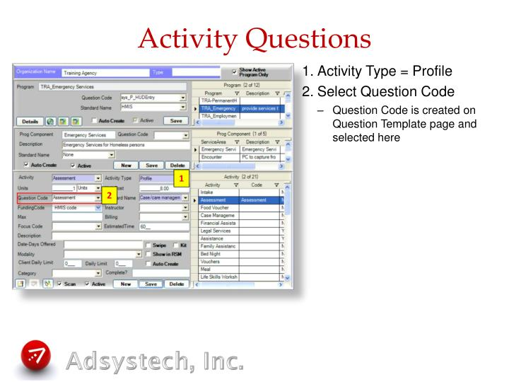 Activity Questions