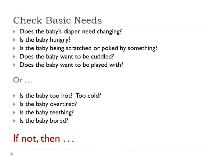Check Basic Needs
