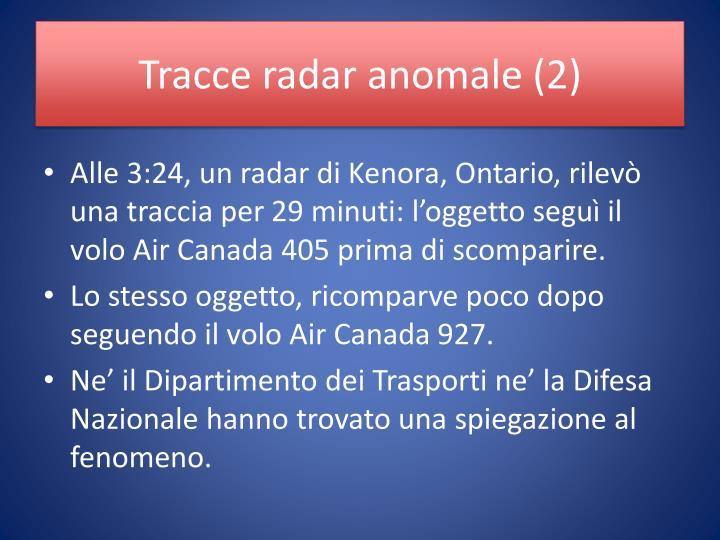 Tracce radar anomale (