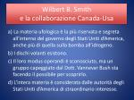 wilbert b smith e la collaborazione canada usa1
