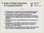 2 dept of higher education training dohet