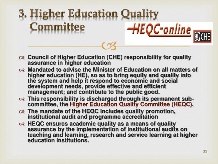 3. Higher Education Quality