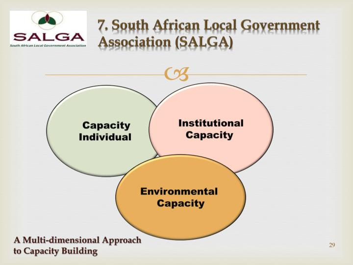 7. South African Local Government Association (SALGA)