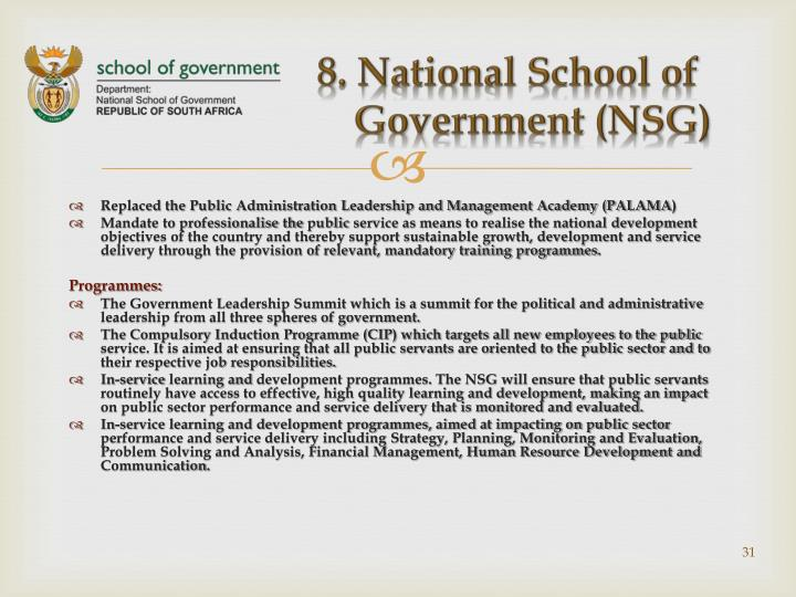 8. National School of