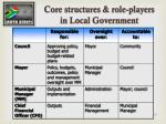 core structures role players in local government