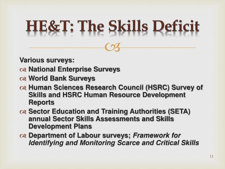 HE&T: The Skills Deficit