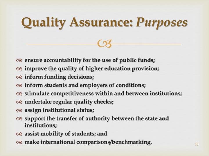 Quality Assurance: