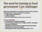 the need for training in local government core challenges