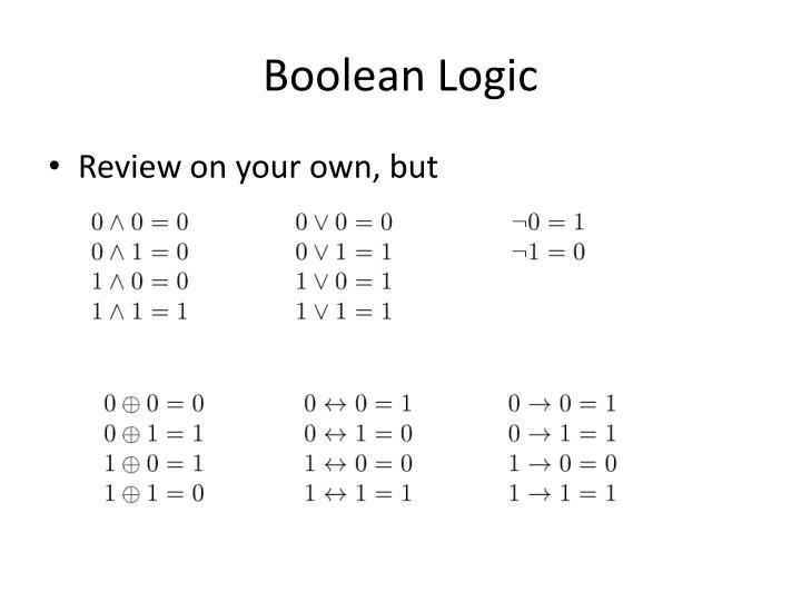 Boolean Logic