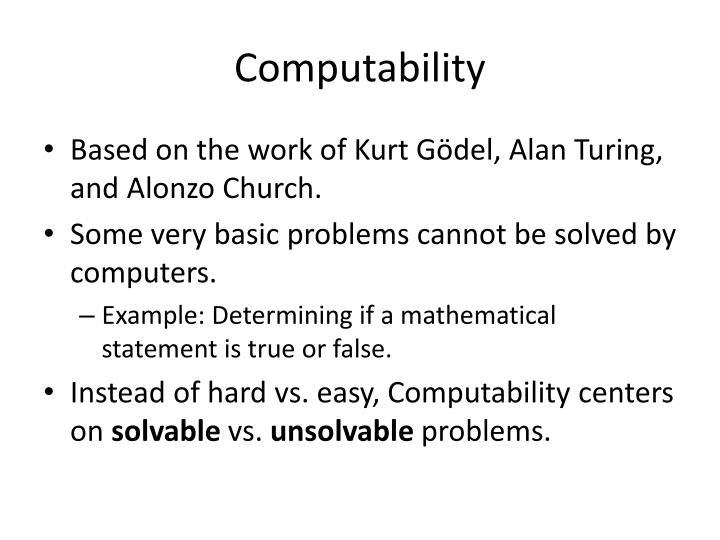 Computability