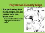 population density maps