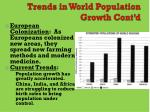 trends in world population growth cont d
