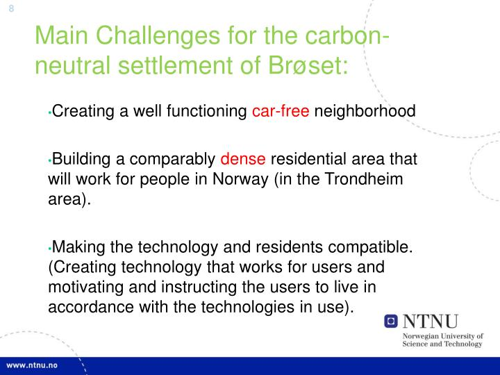 Main Challenges for the carbon-neutral settlement of