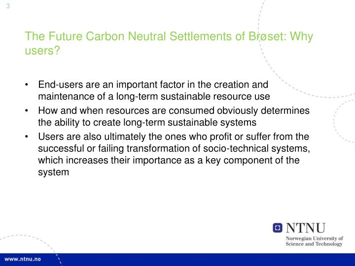 The future carbon neutral settlements of br set why users