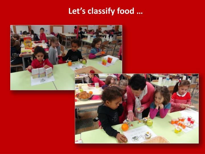 Let s classify food