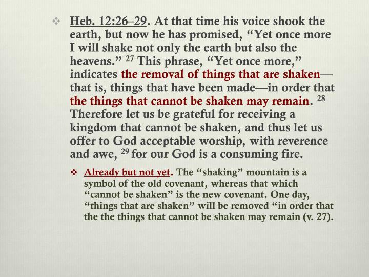 Heb. 12:26–29