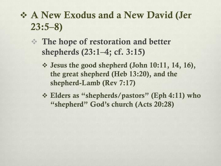 A New Exodus