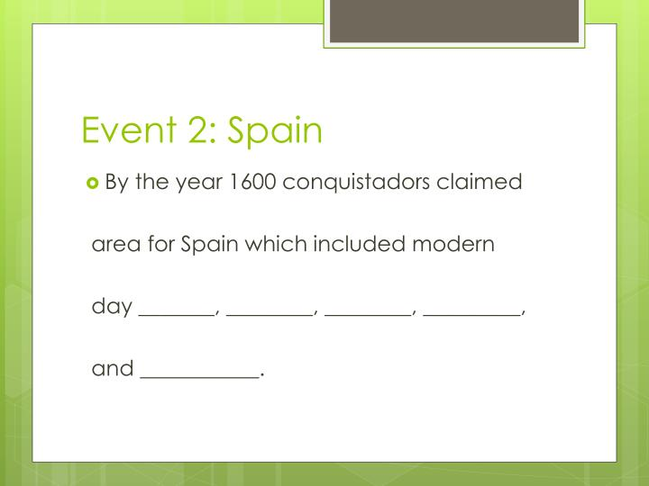 Event 2: Spain
