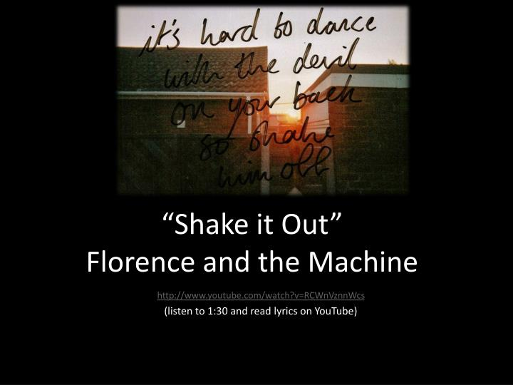 shake it out florence and the machine