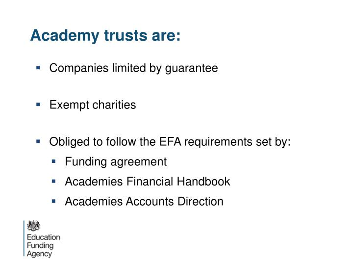 Academy trusts are