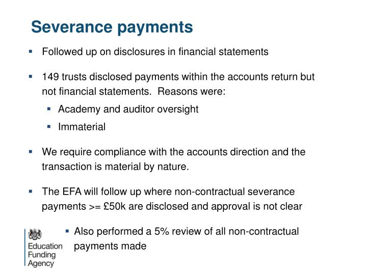Severance payments