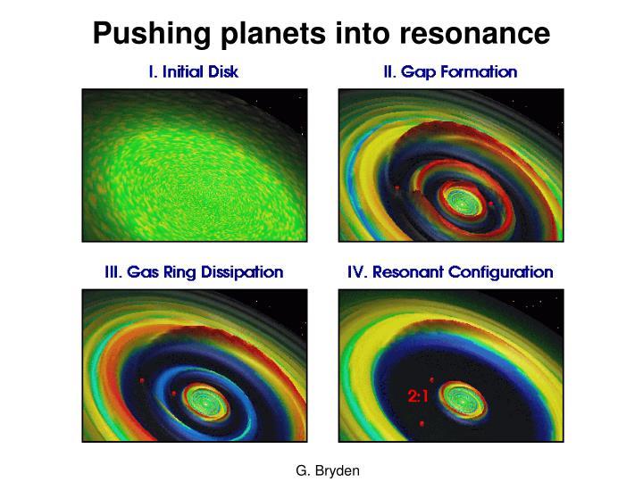 Pushing planets into resonance