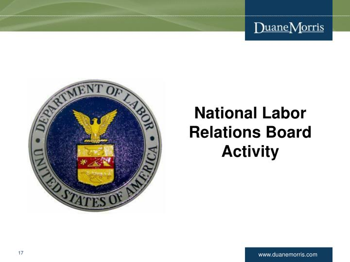 National Labor Relations Board Activity