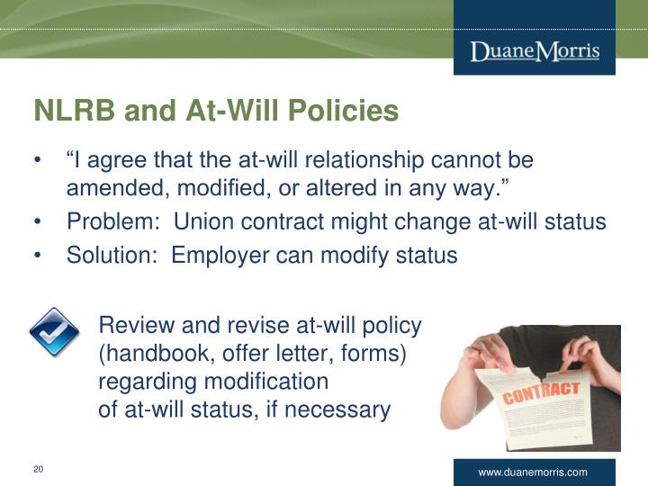 NLRB and At-Will Policies