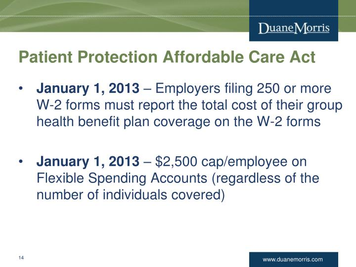 Patient Protection Affordable Care Act
