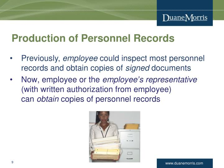 Production of Personnel Records