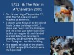 9 11 the war in afghanistan 2001