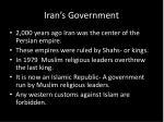 iran s government
