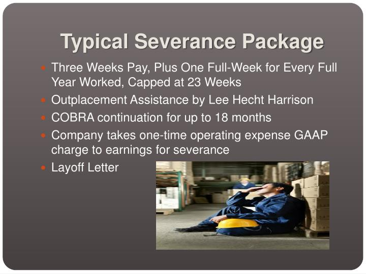 Typical severance package