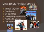 more of my favorite movies