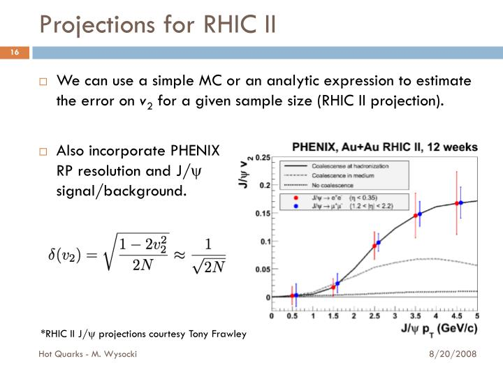 Projections for RHIC II