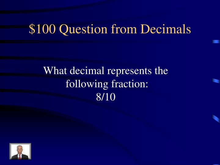 100 question from decimals