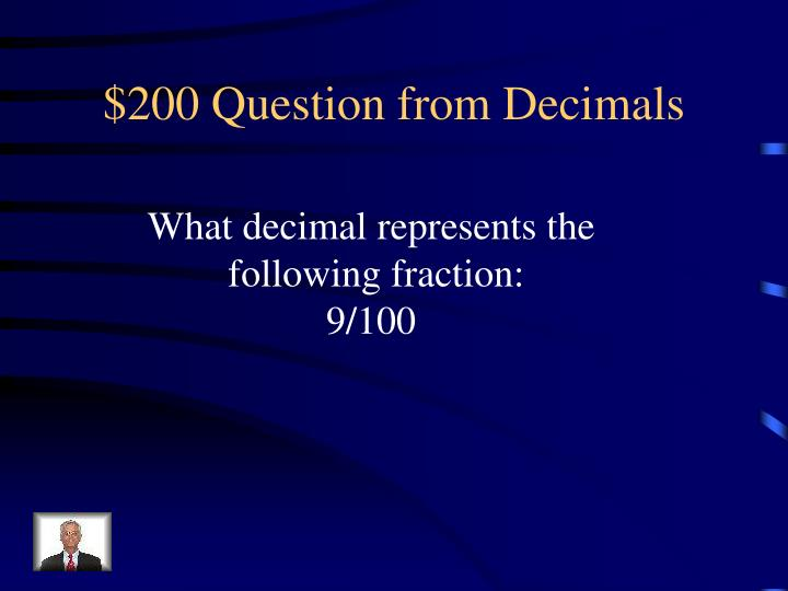 $200 Question from Decimals